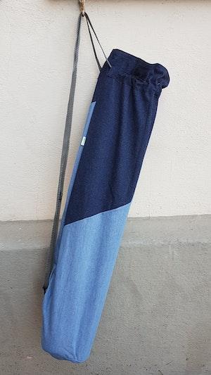Yogamatta Fodral - Jeansblå, mörkt upptill