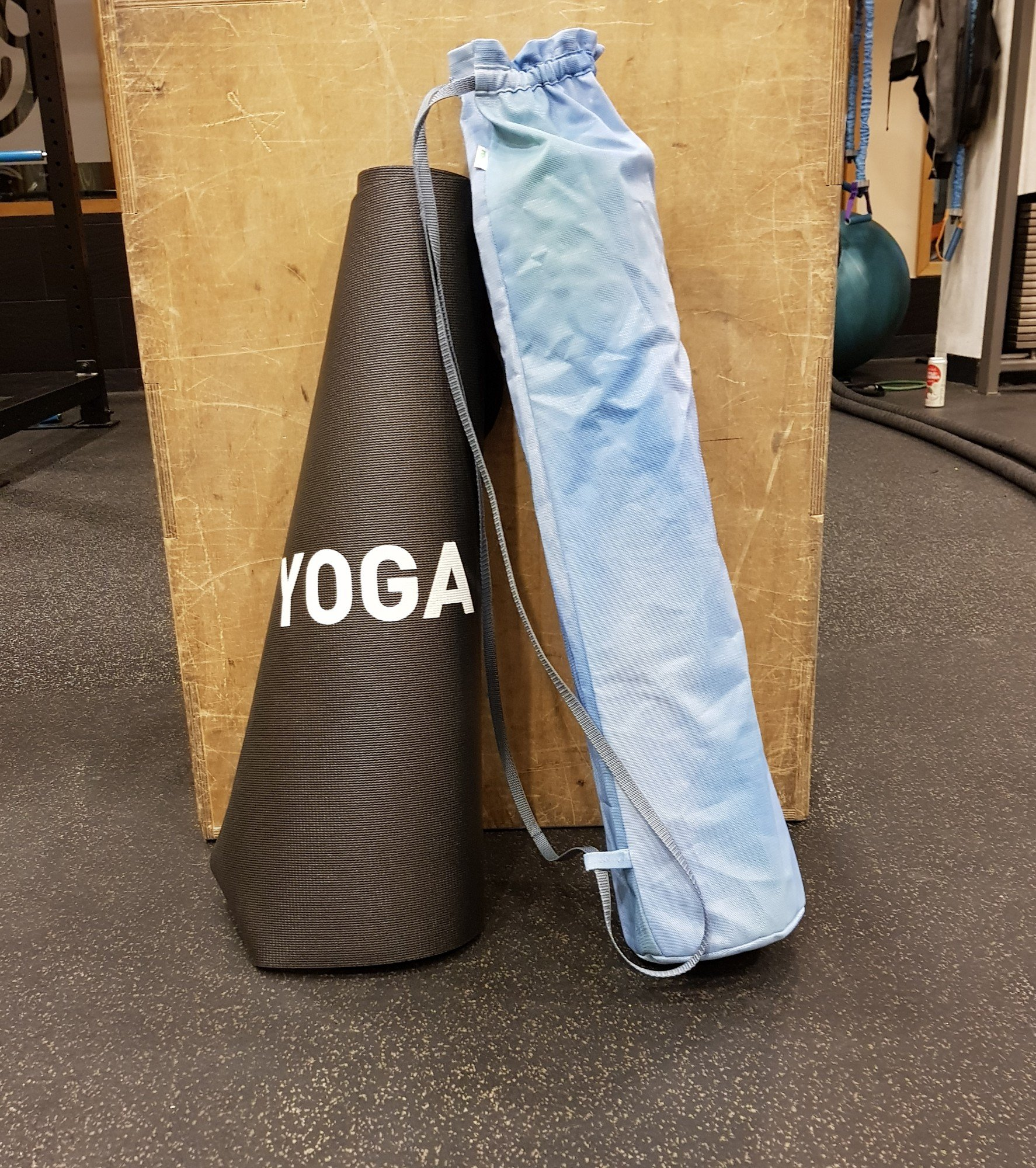 Yogamatta Fodral - Svartgrå Mönstrad