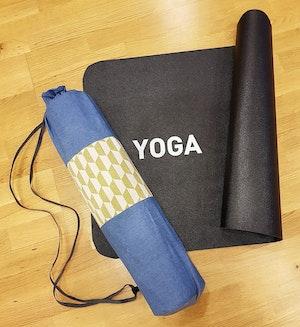 Yogamatta Fodral - Jeans Ljusblå/grönt Mönster