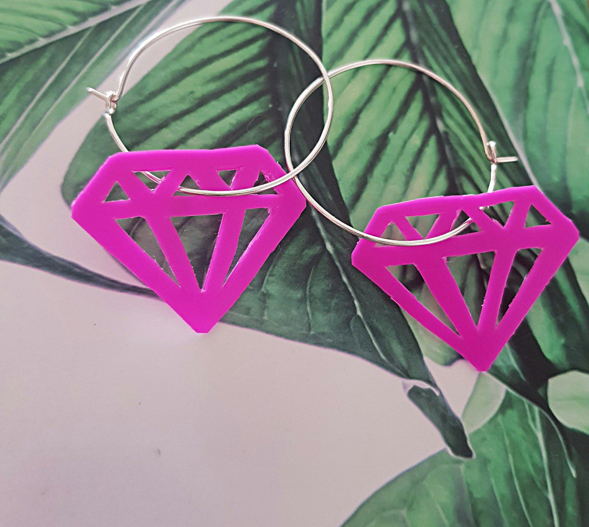 Örhängen - Pink Diamond