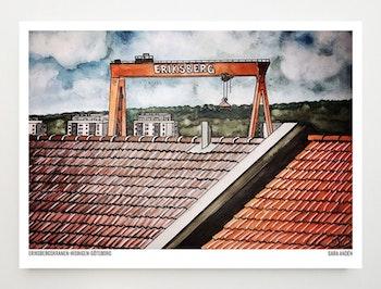 Konstkort Eriksbergskranen
