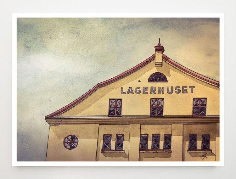 Konstkort Lagerhuset