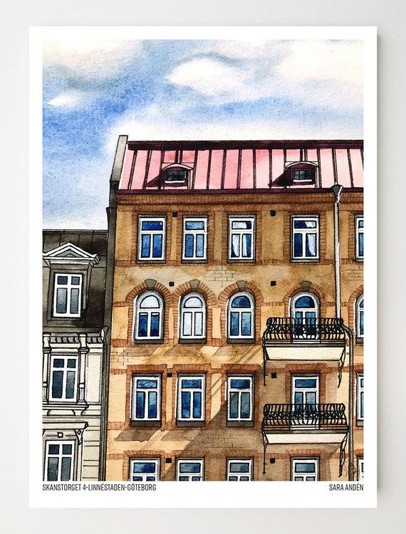 Konstkort Skanstorget 4