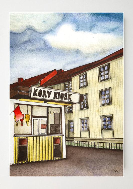 Korv Kiosk Originalfärger