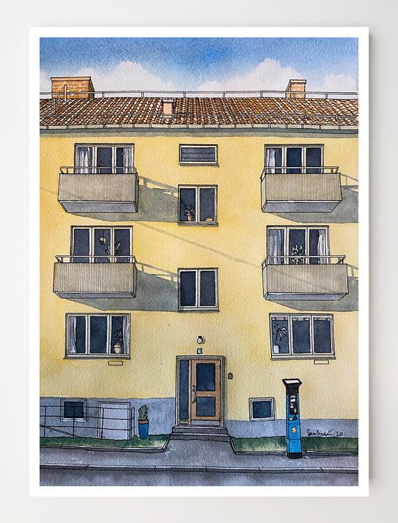 Konstkort Såggatan 35