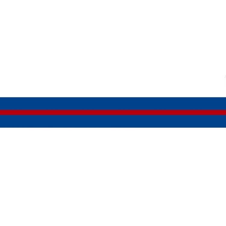 Flipper stripes 60mm Blå/Röd