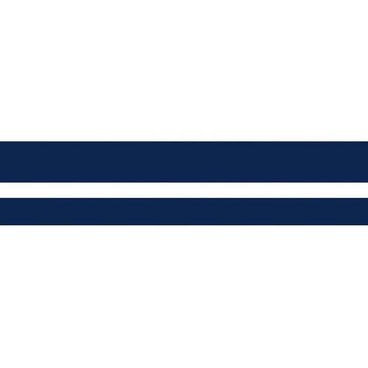 Vattenlinjestripe 90mm Blå