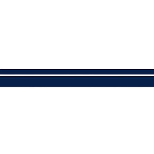 Vattenlinjestripe 57mm Blå