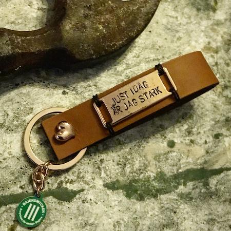Nyckelring med stansbricka