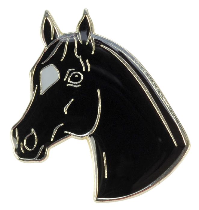 Label Pin Hästhuvud med stjärna
