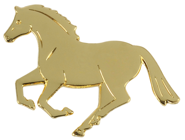 Label Pin Galopp guld