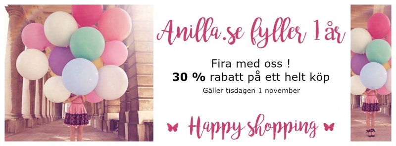 Anilla.se firar 1 år med Super-erbjudande !!
