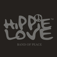 Hårband grå- HIPPIE LOVE