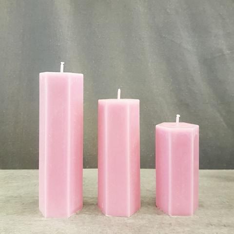 Spindelljus rosa trippel