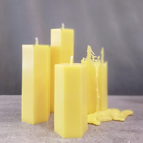 Spindelljus gul trippel