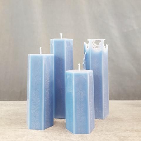 Spindelljus blå trippel