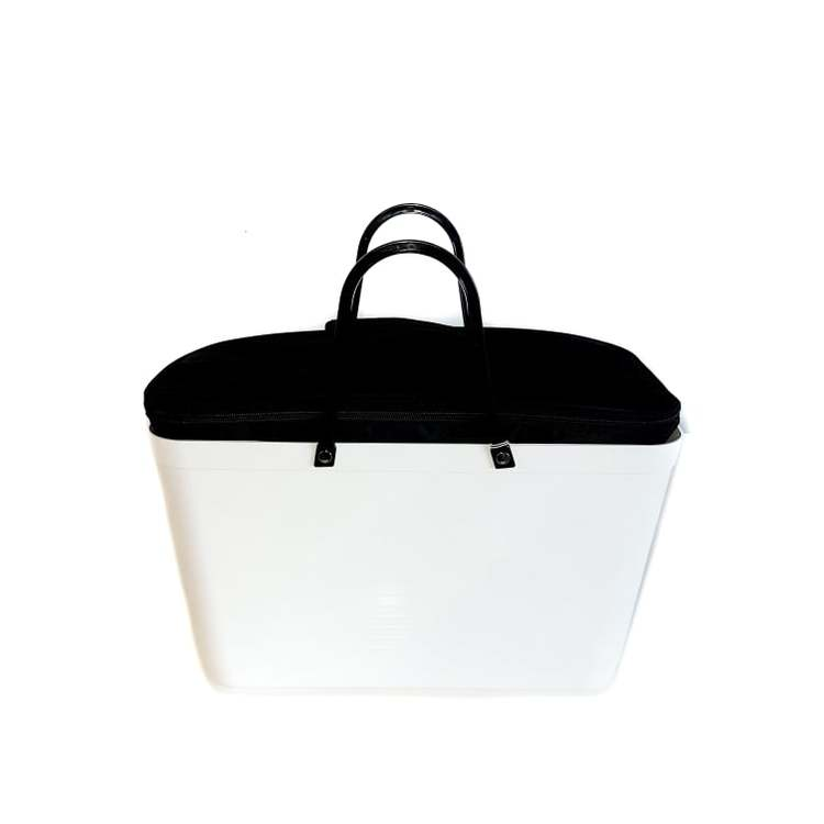 Hinza väska stor vit inkl kylväska