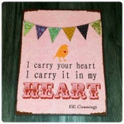 Plåtskylt Heart