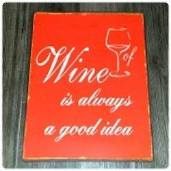 Plåtskylt Wine