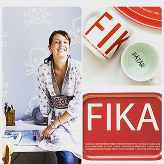 Mugg röd FIKA- I LOVE DESIGN
