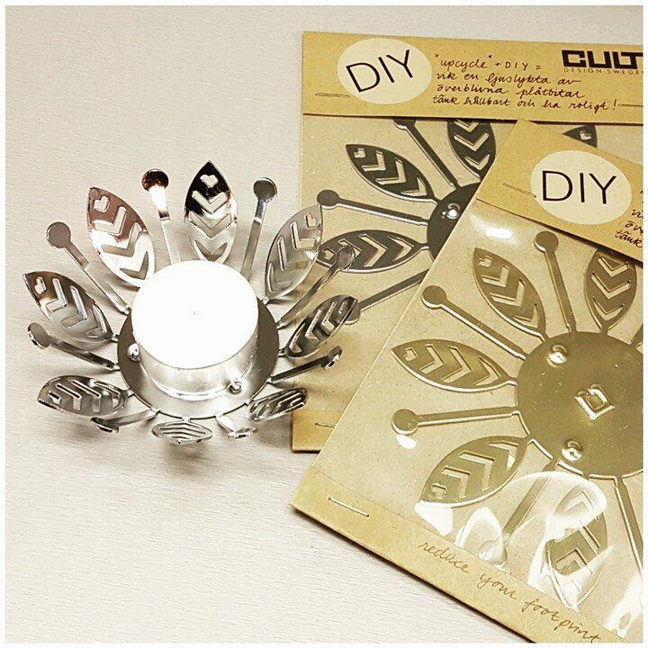 Ljuslykta silver-CULT DESIGN