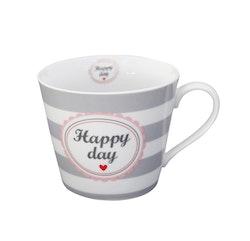 Mugg med öra Happy day-HAPPY
