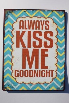 Plåtskylt Kiss
