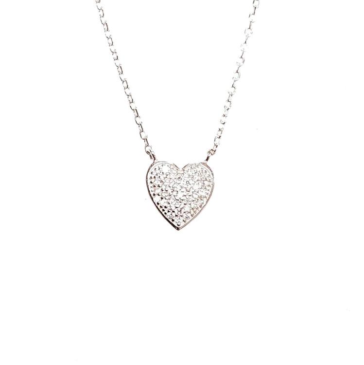 smycke hjärta silver