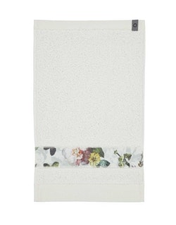 Handduk liten Fleur vit-ESSENZA