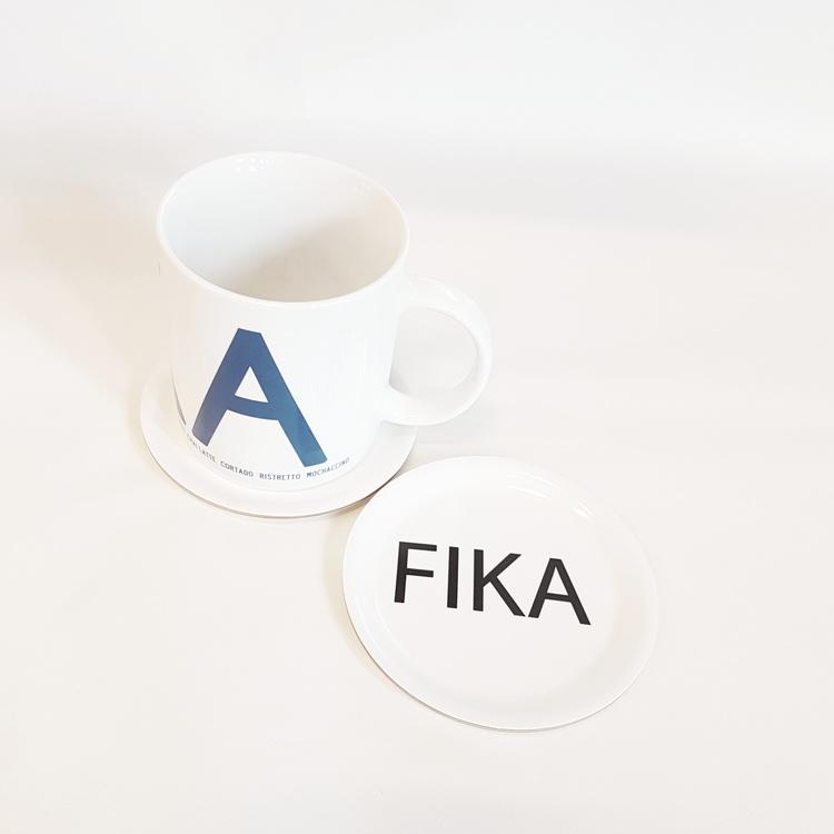 Glasunderlägg 1pack vit FIKA- I LOVE DESIGN