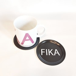 Glasunderlägg 1pack svart FIKA- I LOVE DESIGN