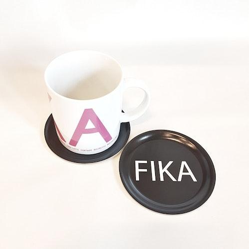Glasunderlägg 1pack svart FIKA- I LOVE DESIGN