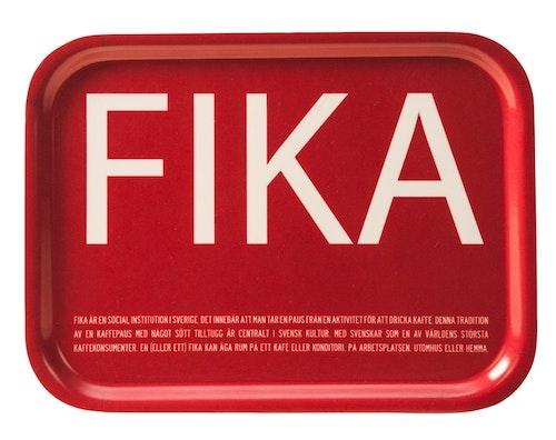 Bricka röd-FIKA