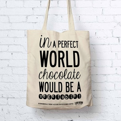 Tygkasse chocolate-I LOVE DESIGN