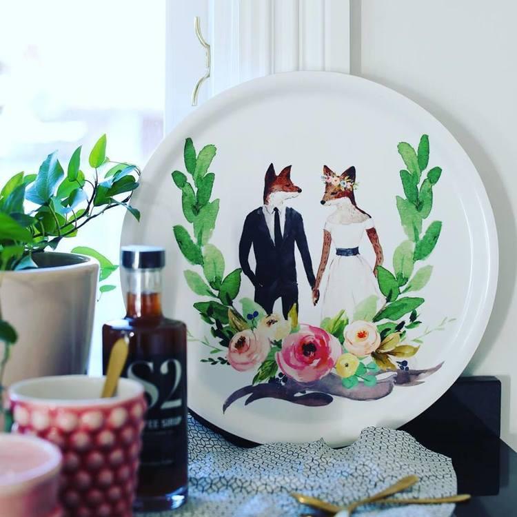 Bricka rund 31 Wedding- I LOVE DESIGN
