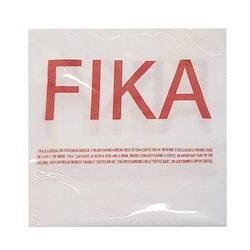 Servett röd/vit-FIKA