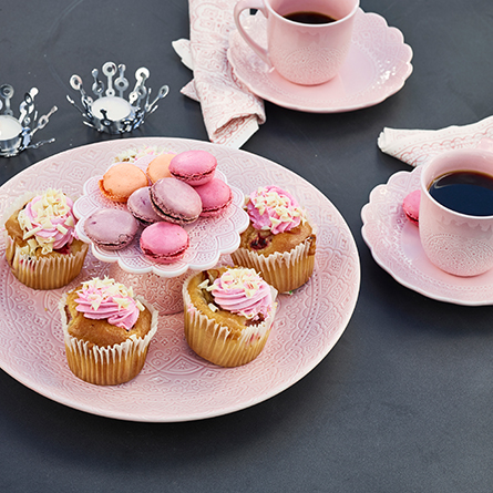 Tårtfat mindre rosa-CULT DESIGN