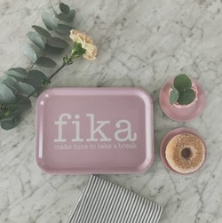 Bricka Fika rosa-Mellow Design