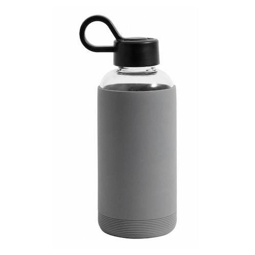 Vattenflaska glas grå-NORDAL