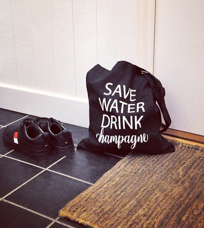 Tygkasse Save water-Mellow Design
