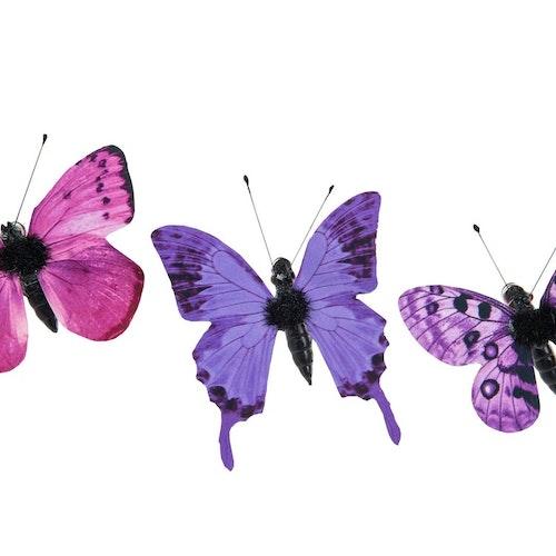 Fjärilar små lila/rosa