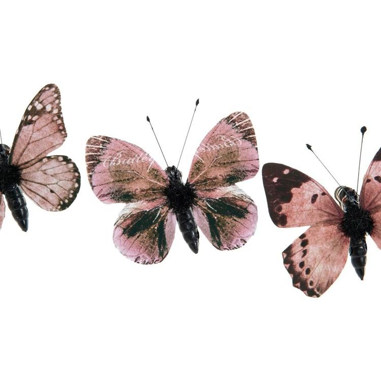 Fjärilar brun/beige