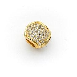 Hårsmycke stenar gold-KELA