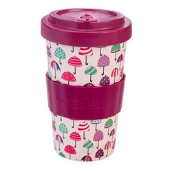 Mugg med lock Paraply - WOODWAY