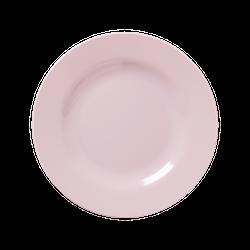 Tallrik rund enfärgad rosa-RICE