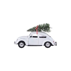 Xmas car vit mini-HOUSE DOCTOR