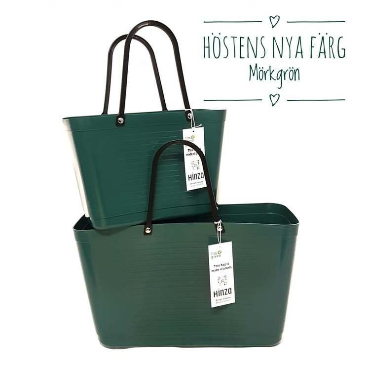 Hinza väska stor mörkgrön -green plastic