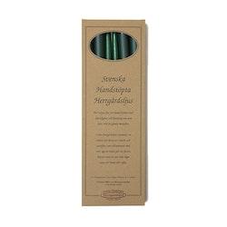 Herrgårdsljus handstöpta mörkgrön 38 cm