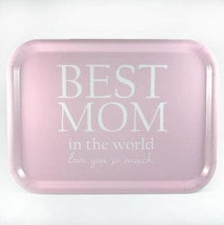Bricka Best Mom rosa-Mellow Design