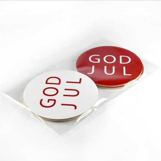 Glasunderlägg 4pack God Jul-Mellow Design